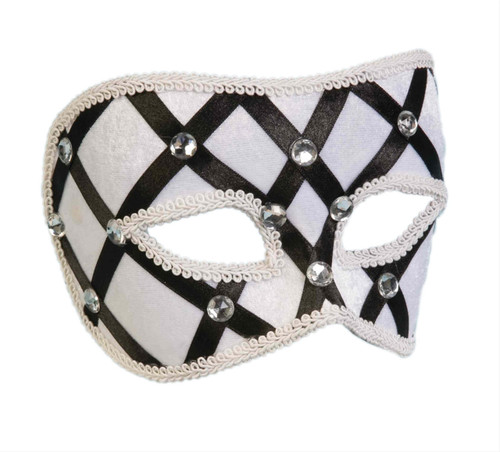Black & White Dimino Lattice Mask