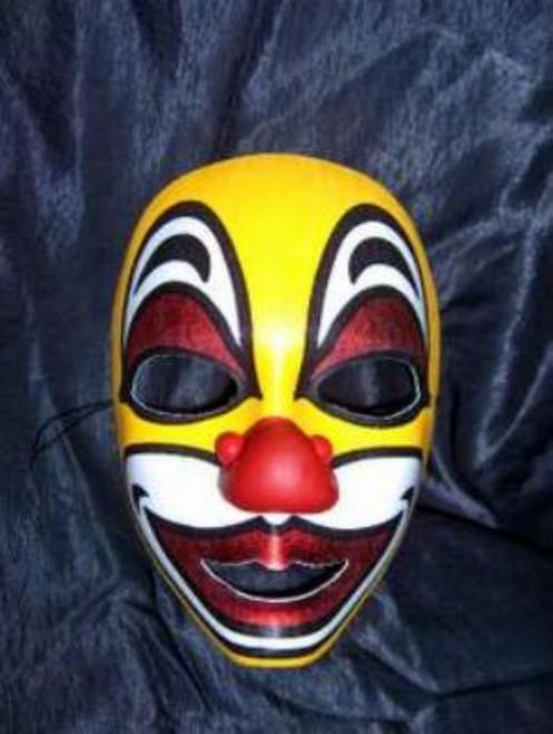 Brillo Yellow Clown Face Mask