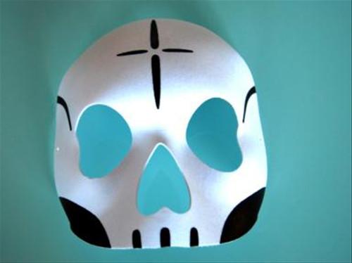 Day of the Dead Skull Half Mask