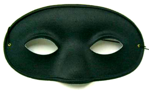 Deluxe Male Black Costume Mask