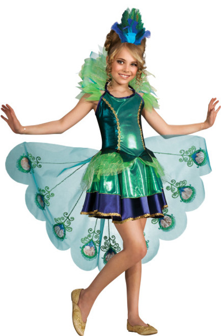 Children's Fancy Peacock Dress Costume