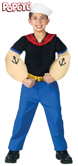 Boys Popeye the Sailor Man Costume