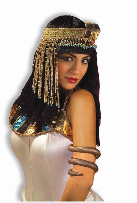 Egyptian Cleopatra Asp Beaded Headband