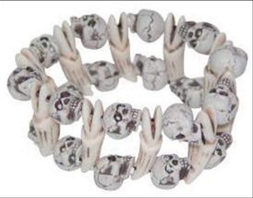 Double Skull & Bone Bracelet