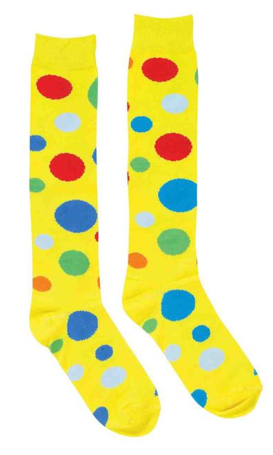 Clown Knee High Polka Dot Socks