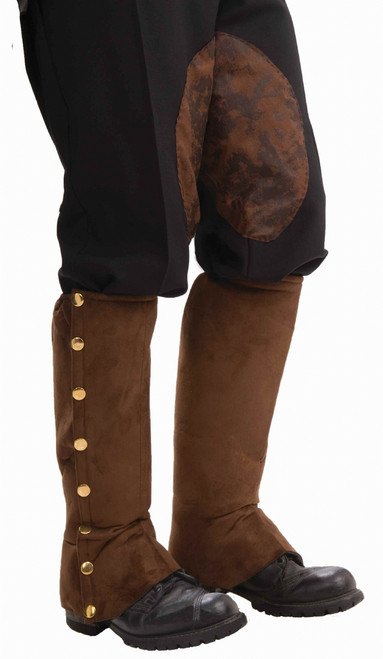 Brown Suede Steampunk Spats