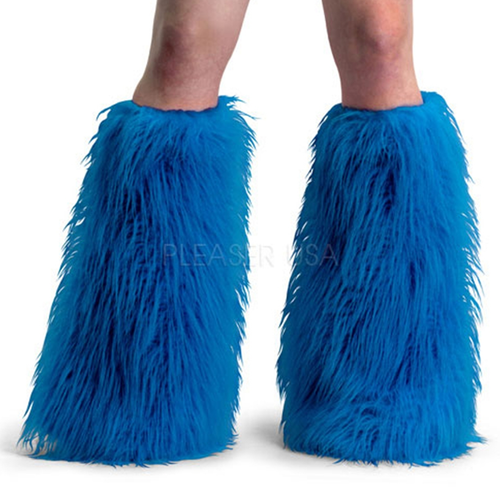 Blue Yeti Fur Leg Warmers