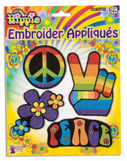 Hippie Costume Embroidered Patches