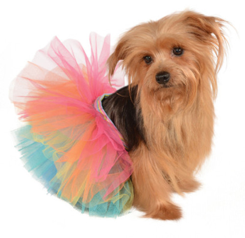 Tiny Pet Rainbow Tutu Skirt