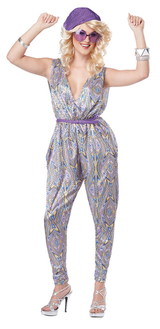 70s Dancing Beatnik Boogie Fever Jumpsuit Costume