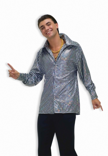 Hustlin Hunk Disco Costume Shirt