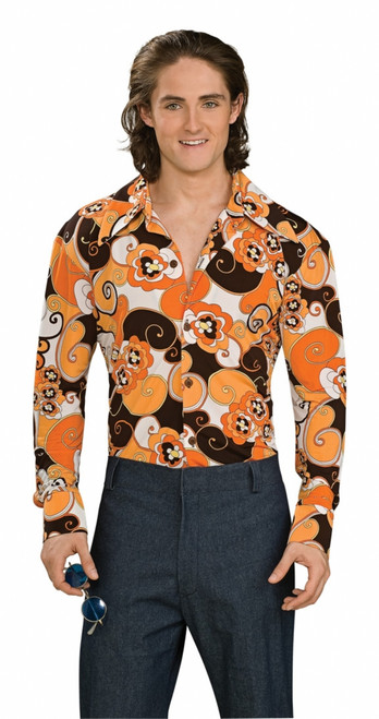 Retro Groovy Orange Halloween Shirt