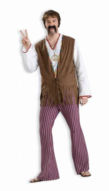 Far-Out Bell Bottom Hippie Costume Pants