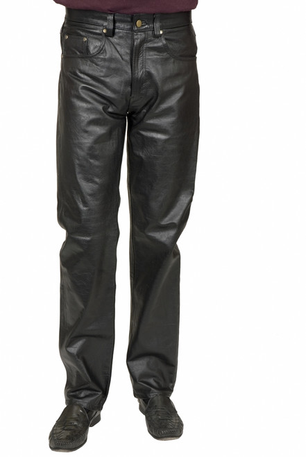 80s Black Pleather Costume Pants