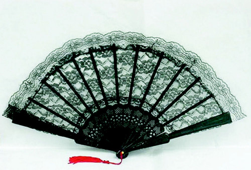 Black or White Lace Fan