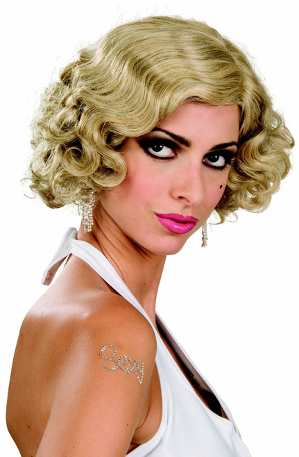 Flapper Monroe Halloween Wig - Blonde