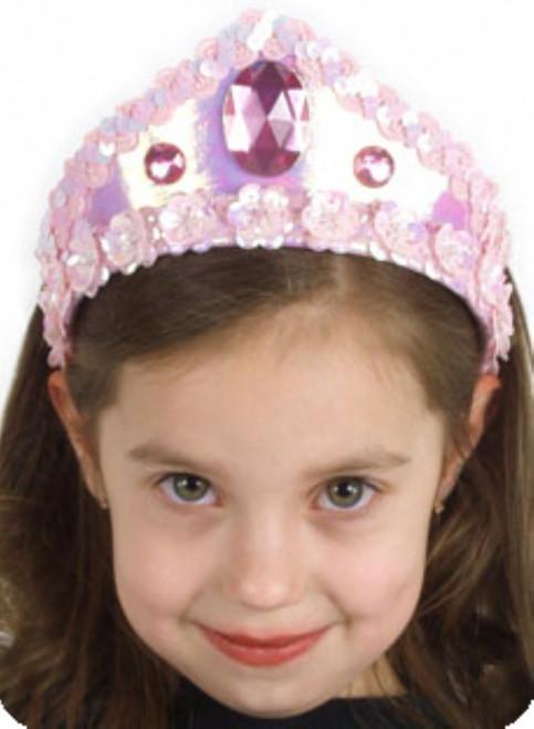 Girls Pink Princess Crown Headband