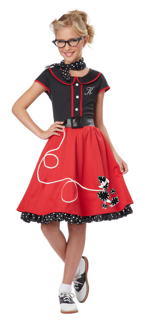 50s Children's Sweetheart Sock Hop/Poodle Skirt Costume