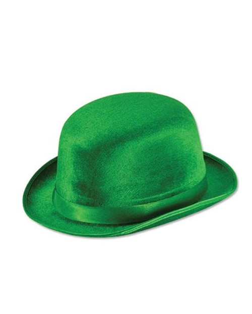 Green Velvet St. Paddy's Day Derby Hat