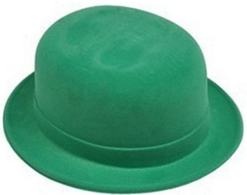 Green Velour Derby Hat