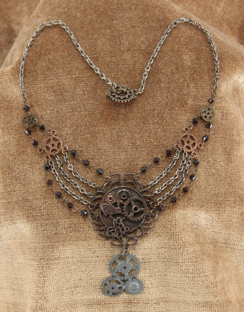 Chain Gear Mix necklace