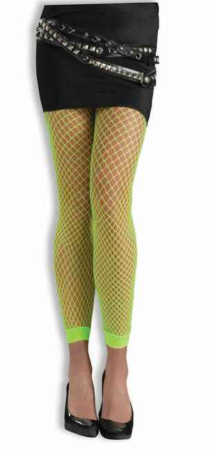 Green 80s Fishnet Neon Leggings