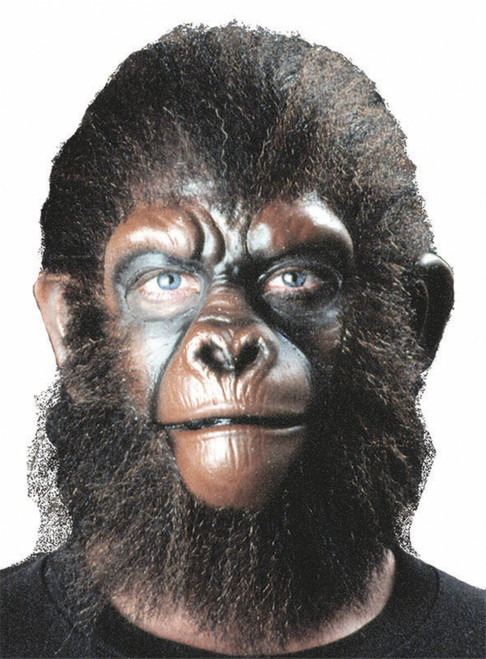 Realistic Ape Face with Crepe Wool