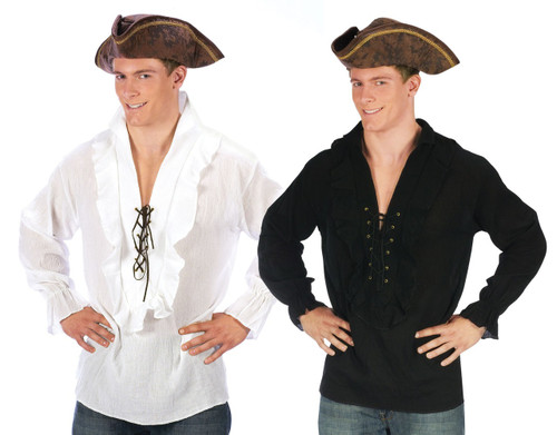 Unisex Puffy Lace Up Pirate or Vampire Colonial Shirt