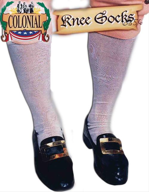 White Colonial Knee Socks