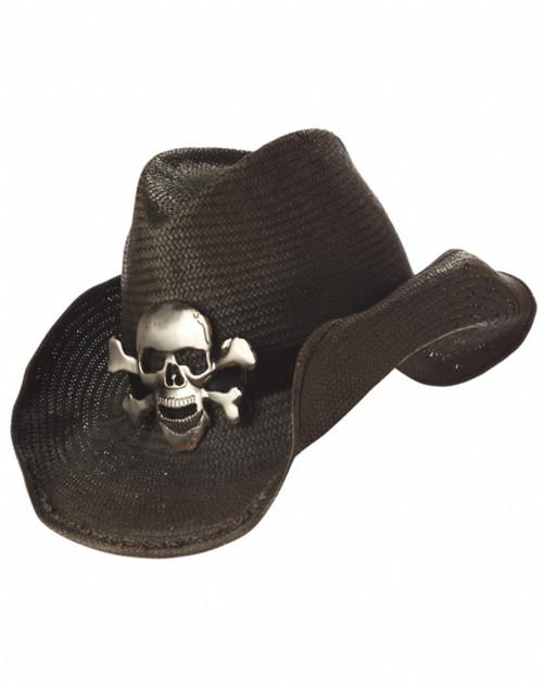 Skull Straw Cowboy Hat