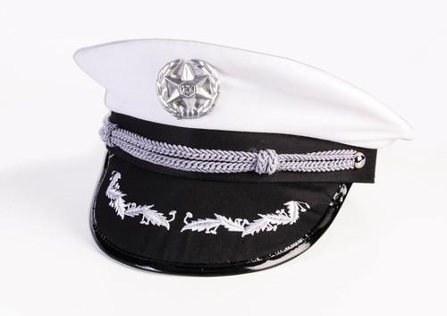 White Officer Hat