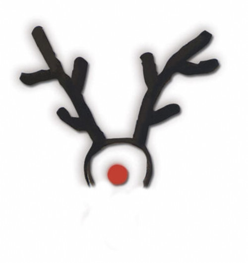 Rudolph the Red Nosed Reindeer Antler and Nose Set
