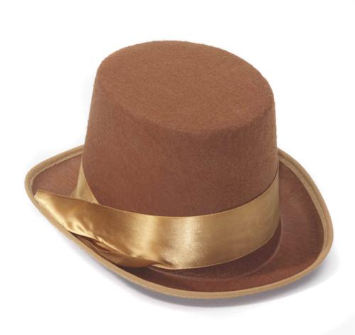 Brown Bell Gentleman Top Hat