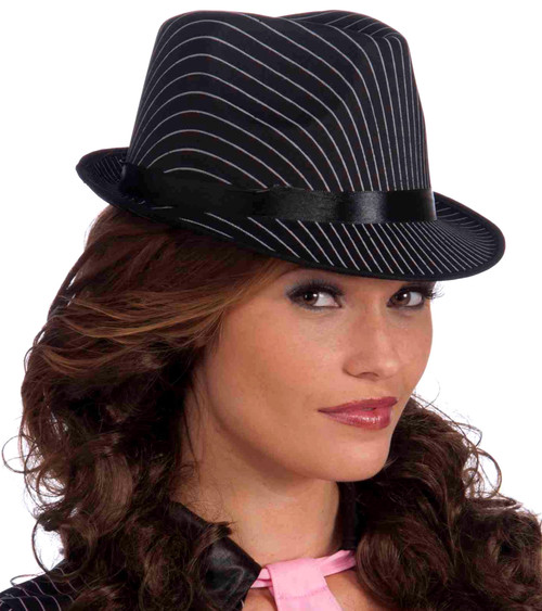Black Pin-stripe Fedora