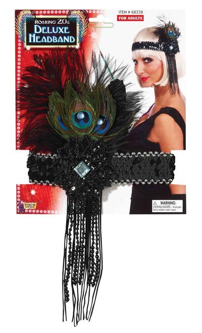 Peacock Feather Flapper Headband - Roaring 20s