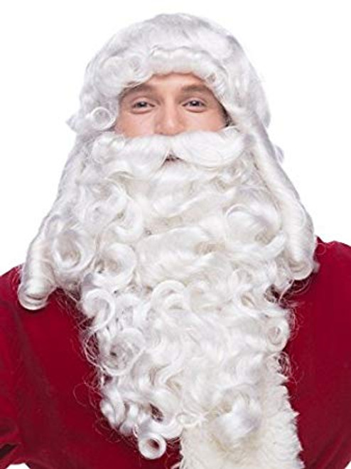 Professional Quality Supreme Santa Wig and Beard Set