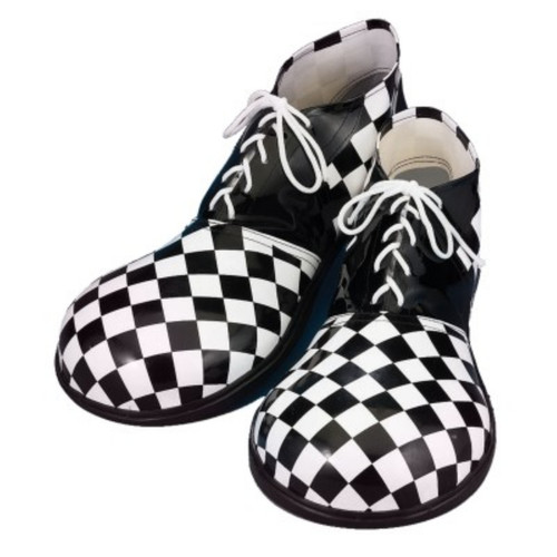 Clown Shoes with Harlequin Halloween Checkers