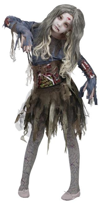 Children's Sick Zombie-Girl Costume