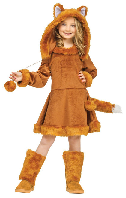 Children's Dress Sweet Fox Girls Halloween Costume