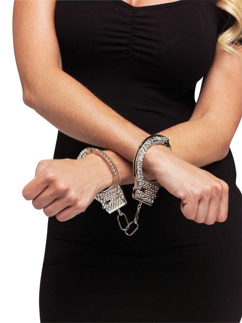Rhinestone Cop Handcuffs