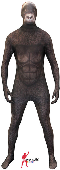Silverback Gorilla Kids Animal Morphsuit