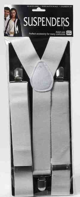 White Formal Tux Suspenders
