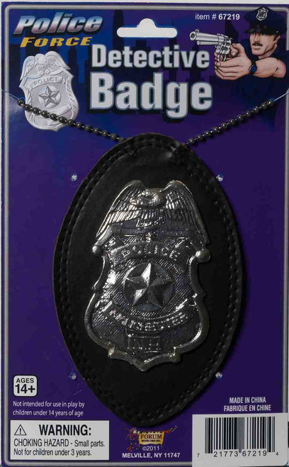 Undercover Detective Badge on a Chain