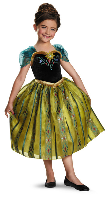 Children's Deluxe Anna Coronation Dress Frozen Costume
