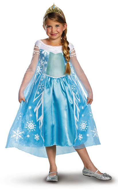 Children's Deluxe Elsa Frozen Costume