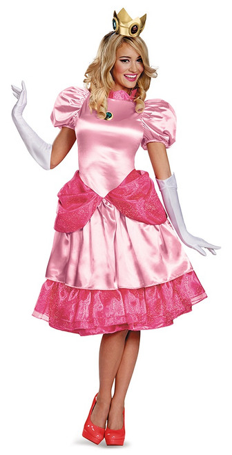 Princess Peach Deluxe Ladies Costume