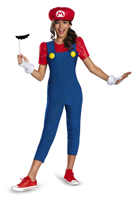 Mario Girl Teen Nintendo Halloween Costume