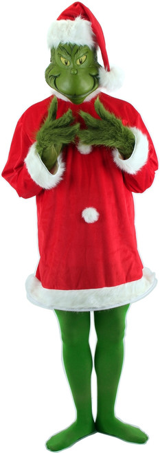 Grinch Santa Suit Costume