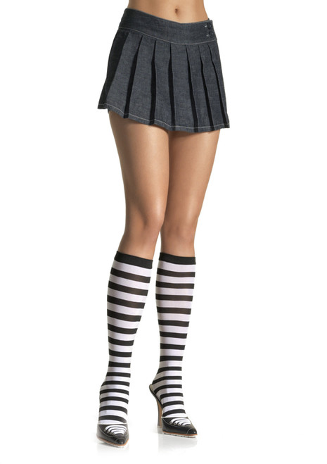 Striped Knee High Socks - 5 Colour Combinations