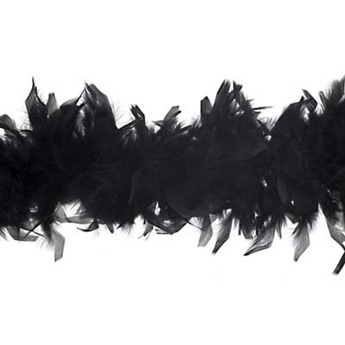 Deluxe Chandelle Feather Boa 80g - Black